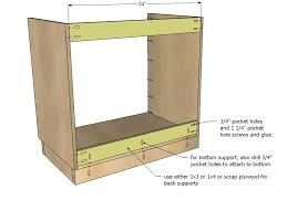 diy kitchen cabinets plans ana white kitchen cabinet sink base 36 full overlay face frame