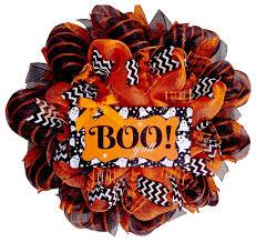 boo y u0027all handmade halloween southern deco mesh wreath