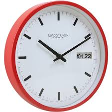 Ivation Clock by Splendid Day Date Wall Clock 63 Calendar Flip Day Date Wall Clock