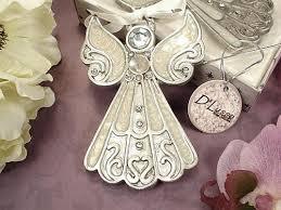 Baptism Ornament Favors Wedding Favors Angel Hanging Ornament White Epoxy Wedding