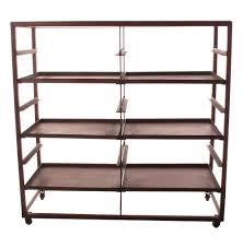 Bakers Rack Console Buttermere Industrial Loft 2 Tier Baker U0027s Rack Display Bookcase