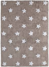 stars cotton rug in linen and white by lorena canals