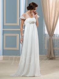 maternity wedding dresses cheap tulle watteau empire waist maternity wedding