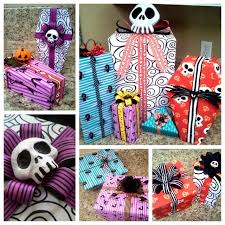 skellington wrapping paper nightmare before christmas wrapping paper diy tutorial diy