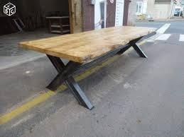 vernis table cuisine table de salle à manger fer bois écorce brut 3 m bois brut