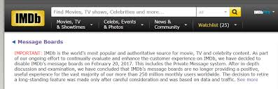 what happened to imdb message boards rip imdb message boards the donald