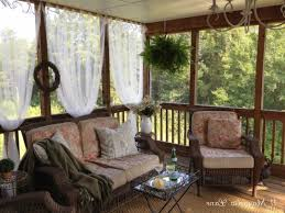 Inexpensive Sheer Curtains Add Privacy To Screened Porch 11 With
