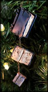 Christmas Book Ornaments - stack of books ornament book fashion pinterest ornament