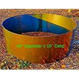 Fire Pit Liner by Amazon Com Round Steel Fire Pit Liner Campfire Ring 40