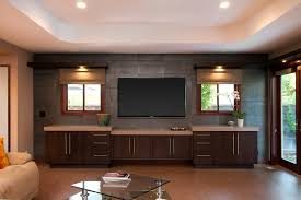 Living Room Entertainment Center Ideas Furniture Wall Mount Entertainment Center With Brown Wooden Floor