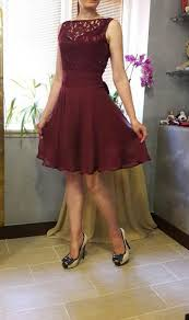 maroon dresses for wedding cocktail dress lace dress maroon dress dress knee length summer