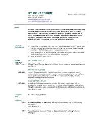 Model Resume For Job by Sample Resume For First Job Berathen Com