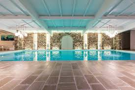 indoor pool stone wall total white mediterranean style noemi