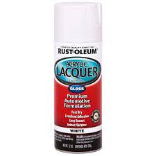 rust oleum automotive 12 oz enamel gloss white spray paint 6
