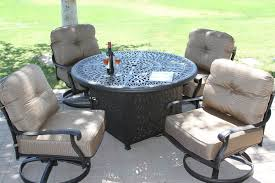 Char Broil Outdoor Patio Fireplace by Outdoor Patio Furniture Set With A Fire Pit 8 Designs Outdoor