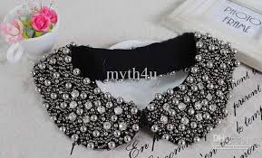 beaded collar necklace images 2018 fashion black rhinestone beaded peter pan collar necklace jpg