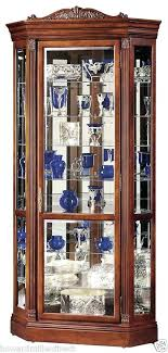 corner curio cabinets for sale cherry wood curio cabinet miller embassy ll large lighted cherry
