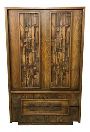 lane furniture brutalist armoire chairish