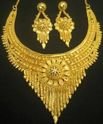 indian gold jewellery sets designs for bridal 2016
