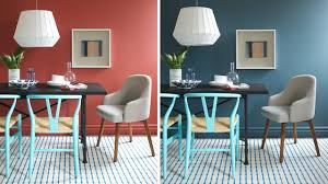 interior design one dining room two different wall colors and