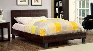 Upholstered Bedroom Sets Brown Crocodile Skin Leatherette Upholstered Bed Frame Caravana