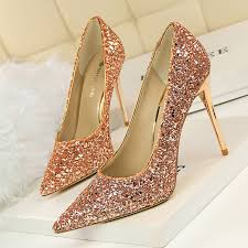 wedding shoes bottoms 8 shinning colors women thin high heels pumps pointed toe