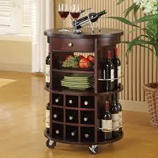 Kitchen Cabinets With Wine Rack Astonishing Dark Brown Wooden Kitchen Wine Rack Cabinet With Round