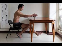 Chair Squat Squatting And Single Leg Squatting From A Chair Yoga Desk