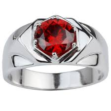red silver rings images 925 sterling silver rings for men trendy round cut red cz gift for jpg