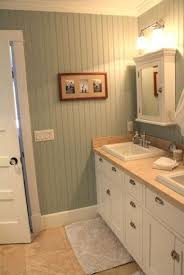 Beadboard In Small Bathroom - loving this idea for the basement bath maybe floor to ceiling