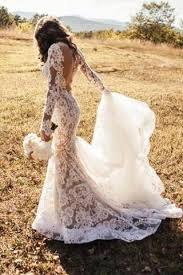lace wedding dresses uk appliques backless lace mermaid ivory sleeve wedding