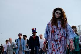 storm halloween new jersey zombie walk nj family october 2013