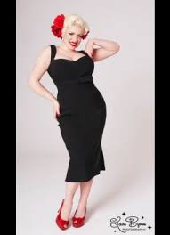 the jessica wiggle dress in bombshell black bengaline with self