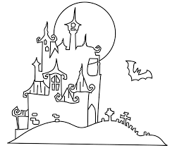 halloween scene coloring pages coloring