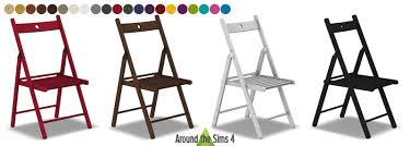 Folding Chairs Ikea Around The Sims 4 Custom Content Download Ikea Foldable Chair