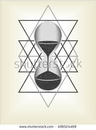 hourglass sri yantra sacred geometry vector stock vector 406524463