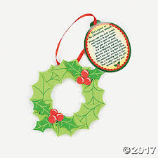 legend of the wreath ornament with poem craft kit