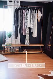 rolling diy garment rack for your wardrobe wardrobe rack