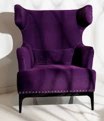 Lounge Chairs For Bedroom by Luxe Italian Designer Lounge Chair In Purple Upholstery A