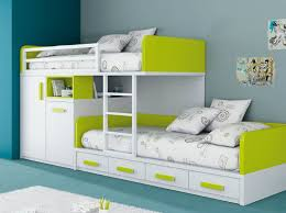 Bunk Bed Kid Beds With Storage For A Tidy Room Extraordinary White Green