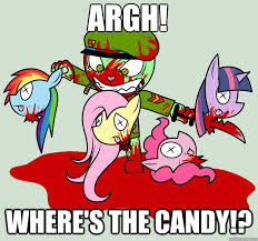 Brony Memes - argh where s the candy anti brony quickmeme