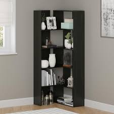 corner bookcase with doors amazon com ameriwood home transform expandable bookcase black