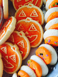 store bought halloween cookies and a relief society swap til you