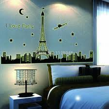paris wall chinaprices christmas gift wall art sticker paris eiffel noctilucent decals home decor kids room