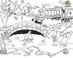 20 kleurplaten thomas trein images