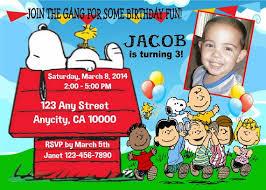 get snoopy birthday invitations ideas free printable invitation