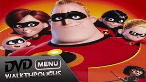 incredibles 2004 05 dvd menu walkthrough