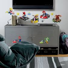 new nintendo mario kart wii wall decals game room decorations new nintendo mario kart wii wall decals game room decorations stickers decor ebay