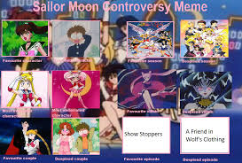 Sailor Moon Meme - sailor moon controversy meme filled out by yugiohponyavengers on