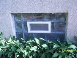 holler glass block showers windows walls basement windows